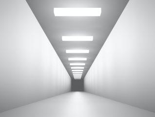 Futuristic corridor tunnel 3D